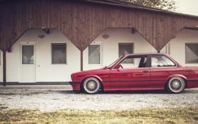Картинка BMW, колеса, E30, сторона