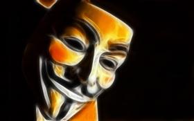 Обои улыбка, маска, V значит вендетта
