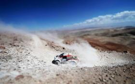 Обои Авто, Машина, Поворот, Занос, Toyota, Rally, Dakar