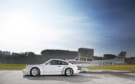 Картинка машина, авто, солнце, обои, 911, самолёт, porsche