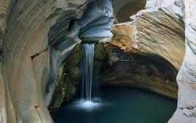 Картинка скалы, водопад, Австралия, Океания, Karijini national park