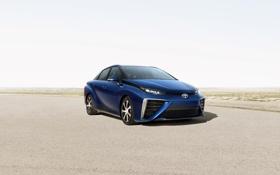 Картинка синий, фото, Toyota, автомобиль, Mirai, 2015