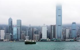 Картинка город, Hong Kong, Hong Kong Island