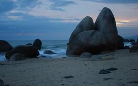 Картинка море, пейзаж, природа, отдых, остров, Китай, путешествие