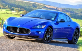 Обои фары, Maserati, мазерати, передок, грантуризмо, GranTurismo S