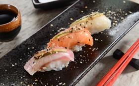 Обои суши, sushi, spices, специи, роллы, fish, rolls