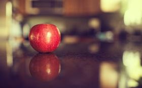 Картинка отражение, яблоко, фрукт