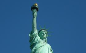 Обои статуя, свобода, америка
