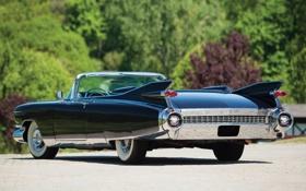 Обои Eldorado, Cadillac, Эльдорадо, классика, вид сзади, 1959, Кадилак
