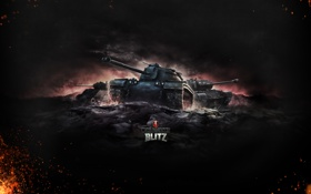 Обои Огонь, Железо, Ствол, США, Пламя, Танки, World of Tanks