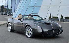 Обои серебристая, вид спереди, феррари 550, GTZ Barchetta, гтз барчетта, Ferrari 550