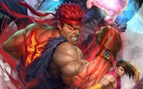 Обои арт, боец, аркада, Super Street Fighter