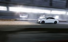 Картинка Mercedes-Benz, Авто, Белый, Мерседес, Седан, AMG, В Движении