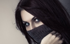 Обои волосы, Beauty, глаза, взгляд, eyes