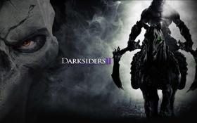 Картинка смерть, конь, всадник, Darksiders 2, Darksiders II