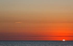 Картинка восход, океан, Солнце, Аргентина
