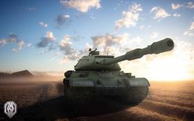 Обои небо, танк, USSR, СССР, танки, WoT, Мир танков