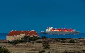 Обои пейзаж, Skagen, дом, Nordjylland, Denmark, корабль