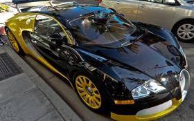 Картинка отражение, veyron, bugatti, бугатти, вейрон, гиперкар
