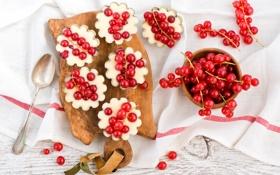 Обои белый, ягоды, шоколад, ложка, доска, красная, десерт