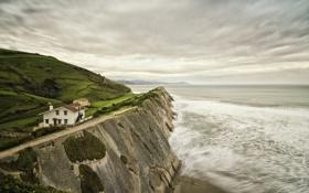 Картинка берег, дома, море