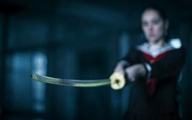 Картинка фон, меч, девушка