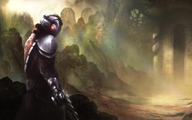 Картинка арт, костюм, руины, artwork, Destiny, guardian