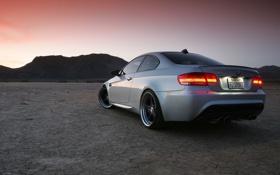 Картинка закат, пустыня, bmw