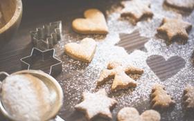 Картинка печенье, пудра, сахарная