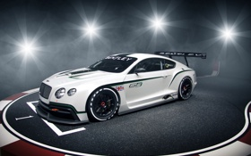 Обои Concept, блики, Continental, GT3, front, бентли, континенталь