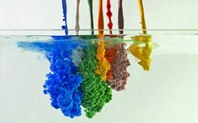Картинка вода, краски, форма
