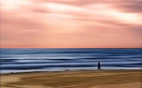 Обои пейзаж, небо, стиль, море