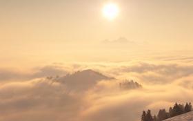 Обои природа, туман, пейзажи