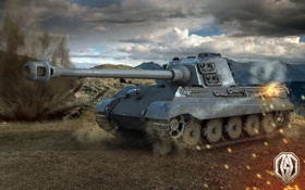 Обои танк, танки, WoT, Мир танков, Tiger II, tank, World of Tanks