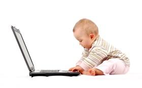 Картинка дети, компьютер, технологии, малыш