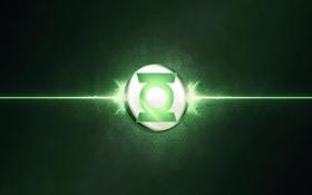 Обои green, logo, Green lantern