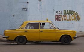 Картинка угол, водитель, такси, Куба, Сьенфуэгос