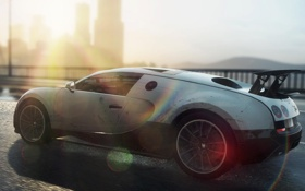 Картинка брызги, гонка, скорость, спорткар, Bugatti Veyron 16.4 Super Sport, need for speed most wanted 2