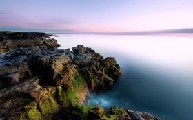 Обои природа, пейзаж, скалы, небо, море