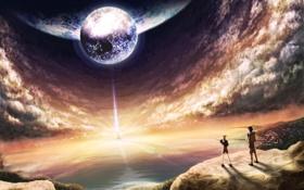 Обои свет, пейзаж, планета