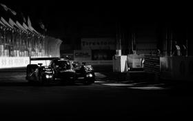 Обои ночь, огни, фото, Audi, обои, трасса, болид