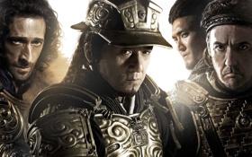 Обои доспехи, шлем, воины, постер, Джеки Чан, Jackie Chan, Adrien Brody
