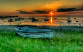 Обои landscape, пейзаж, nature, beautiful, красивые, boats, лодки