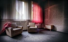 Картинка комната, окно, кресла