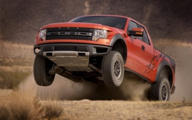 Обои прыжок, Ford, Raptor, F-150, SVT, Price