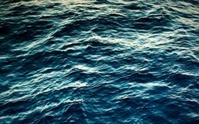 Обои синий, фото, океан, вода, волны, волна, море