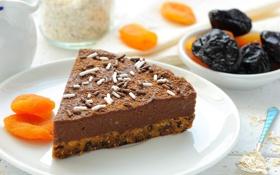 Картинка еда, тарелка, пирог, ложка, десерт, шоколадный, какао
