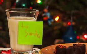 Обои макро, праздник, записка, молоко