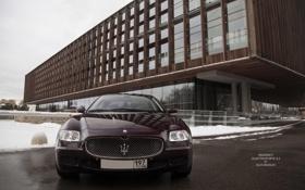 Картинка машина, фары, Maserati, Quattroporte, фотограф, auto, photography