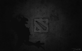 Картинка demon, dota 2, black, logo